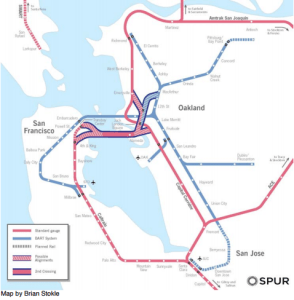 One of SPURs proposed alternatives is for standard-rail only. Image from: SPUR