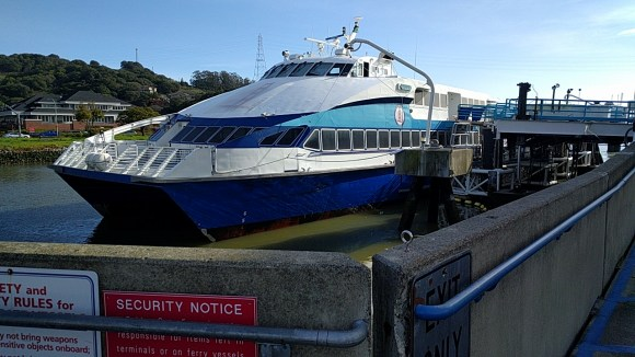 When the Larkspur station opens, it will be a short walk or bike ride to the ferry landing. Photo: Roger Rudick.