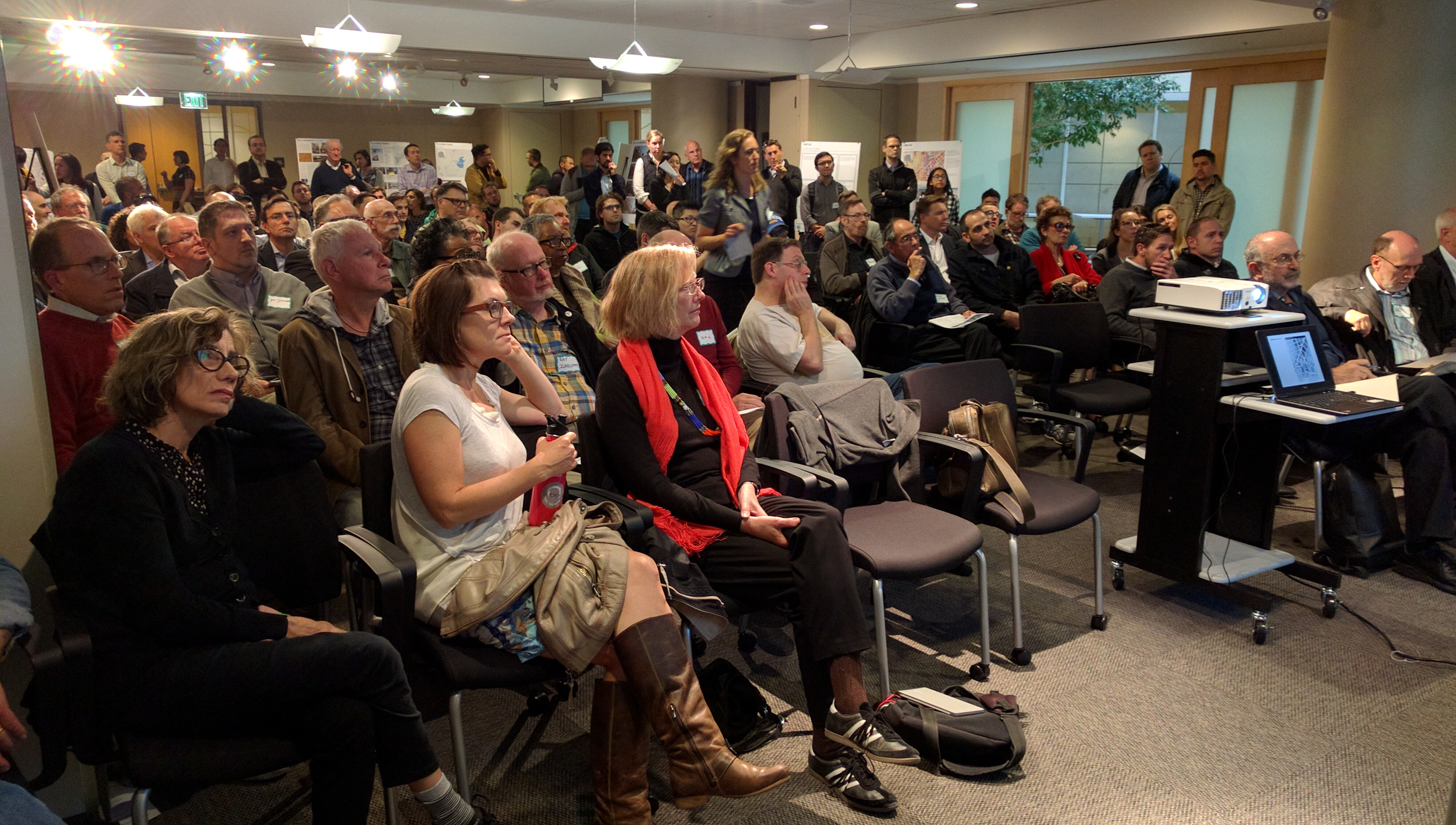 It was standing room only for SF Plannings HUB presentation. Photo: Streetsblog.