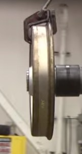 BART wheels have a flat surface where it makes contact with the rail. Image: BART promotional video