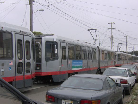 Free private automobile storage on transit routes makes for inherently dangerous conditions. Image: Wikimedia