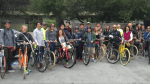 "Professor Jason Henderson's ""Bicycle Geographies"" class explores how infrastructure could make cycling from BART to class safe and fun. Photo: ???TK"