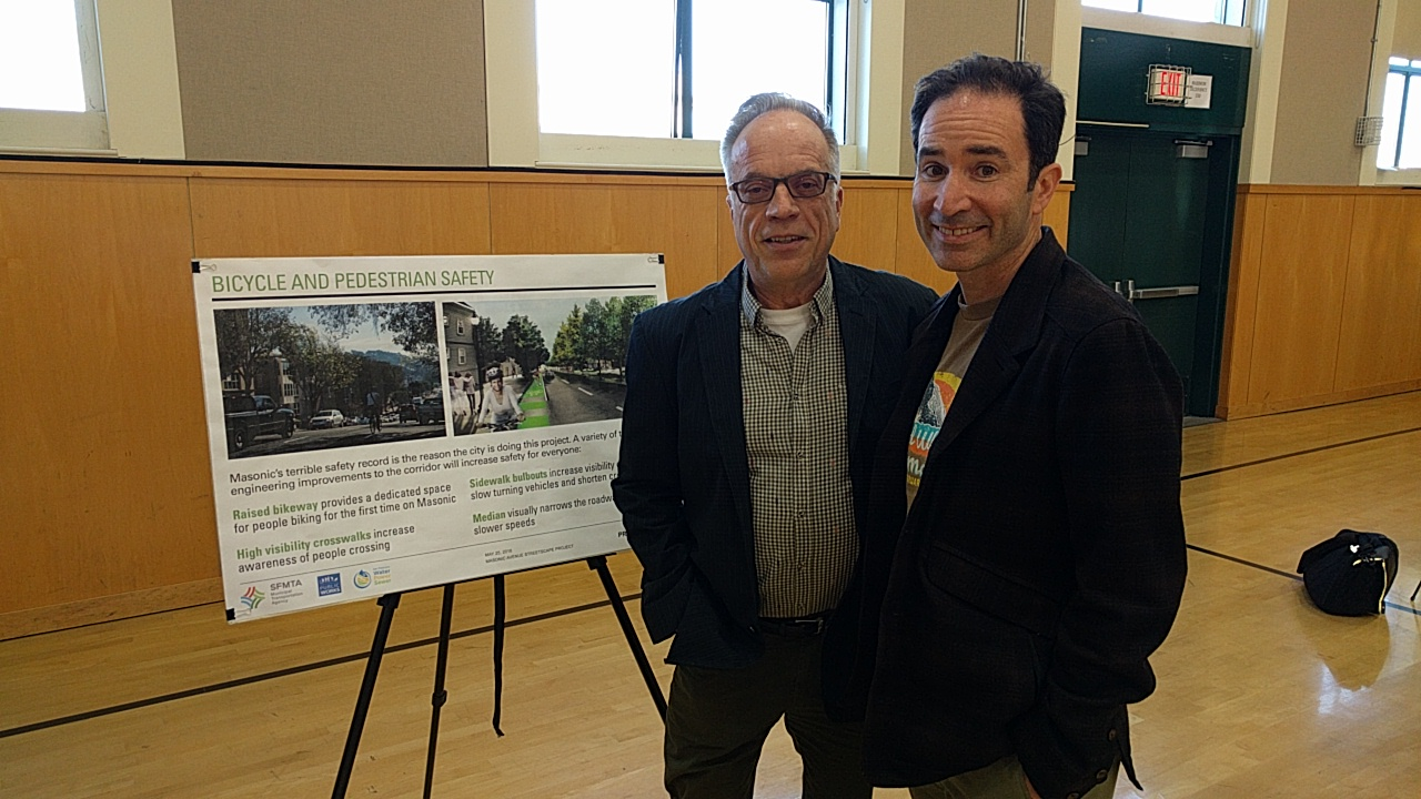 Michael Helquist and Dale Danley looking pleased to see Maconic improvements finally happening. Photo: Streetsblog
