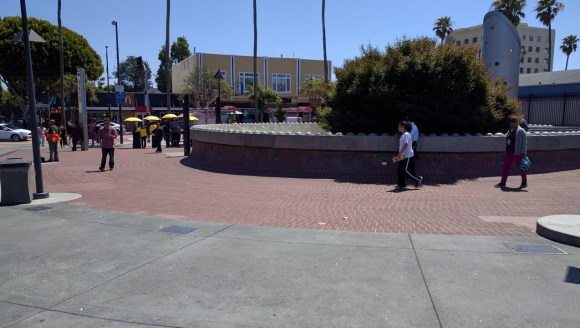 The BART plaza at 24th and Mission. Photo: Streetsblog.