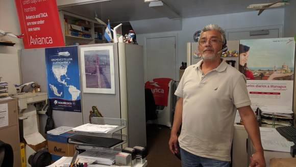 Wilfredo Dominguez, owner of Cuzcatlan Travel, wants Mission returned to how it was. Photo: Streetsblog.