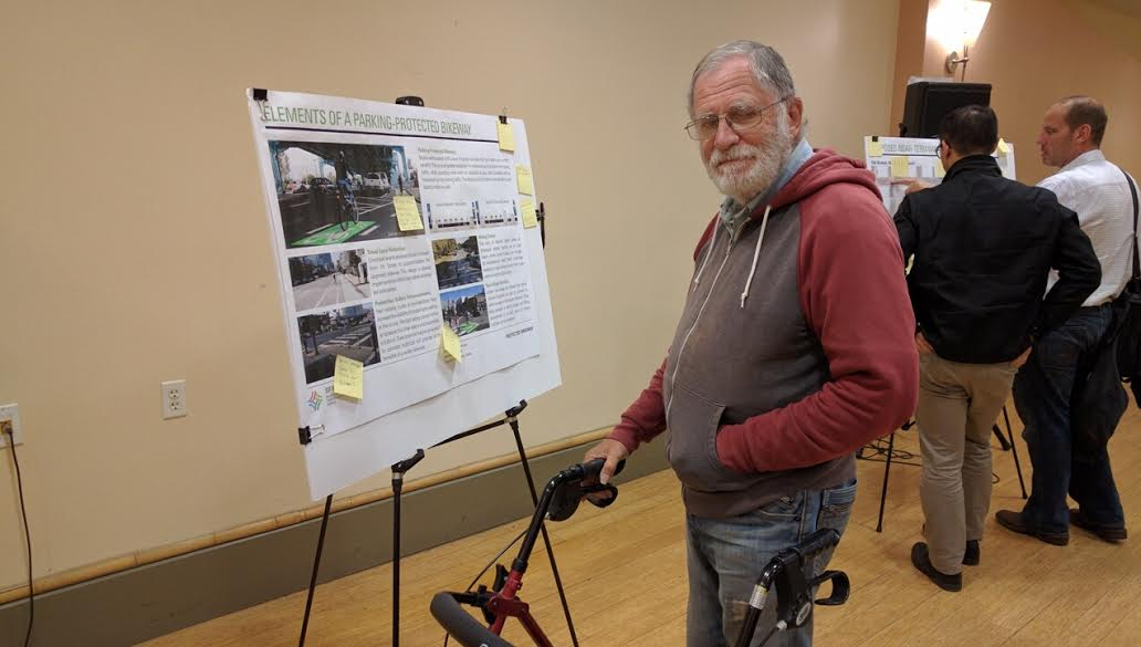 Mel Beatle, an advocate for seniors, also supports protected bike lanes on 7th and 8th. Photo: Streetsblog.