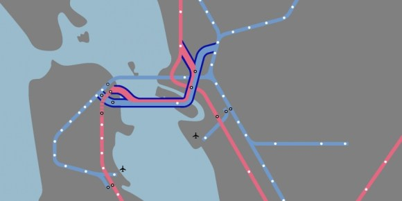 Candidates had different views on the dream of a second BART tube. Image: SPUR.