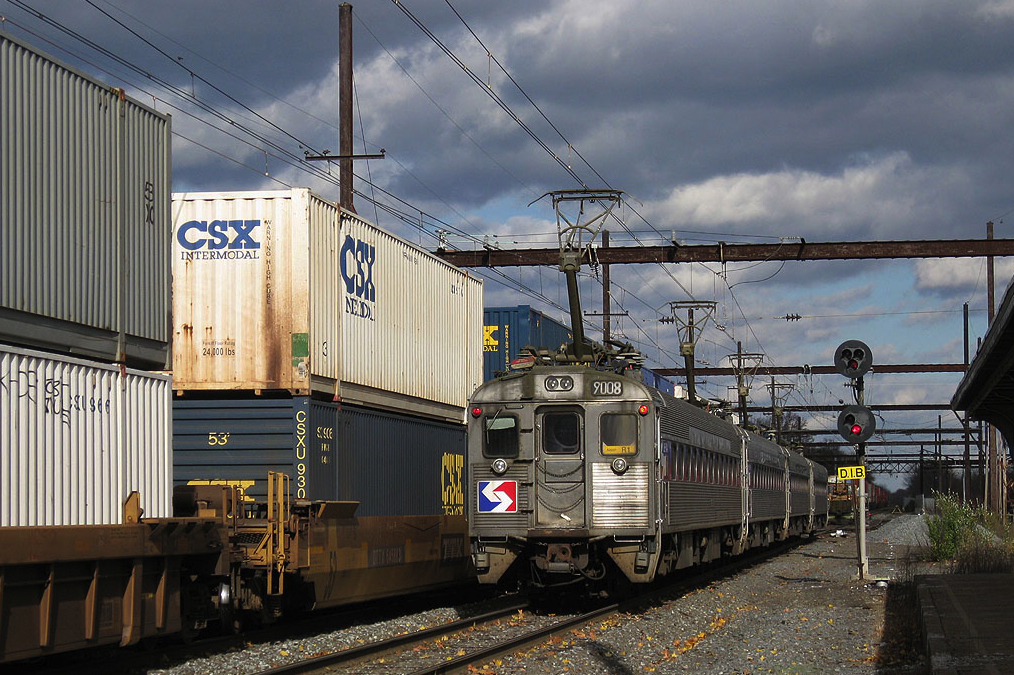 Sorry Ralph, you're wrong again. Here's a double-stack freight train in Pennsylvania running next to a Philadelphia commuter train. Photo: a Railfan page ***WORKING ON IT***