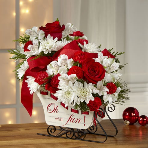 Winter Sleigh Ride Bouquet At Send Flowers