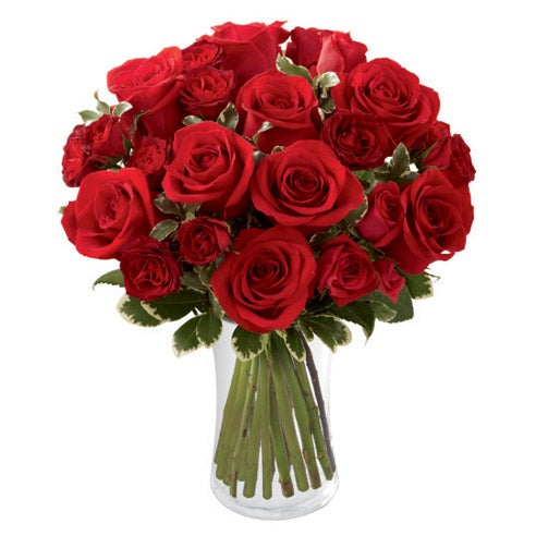 Red Romance Rose Bouquet At Send Flowers
