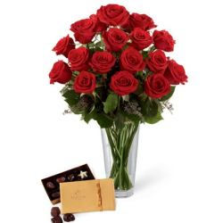 Last minute gift delivery long stem roses and chocolates delivery