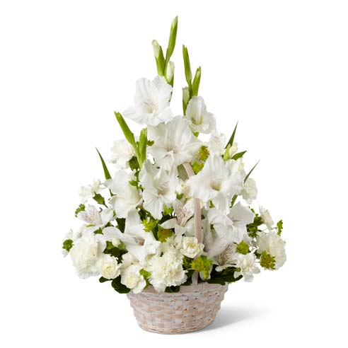 white peruvian lily bouquet
