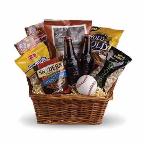 Gift basket delivery for baseball fans, baseball gift basket