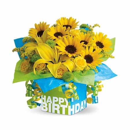happy birthday sunflower lily