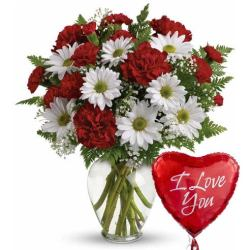 Last minute gift delivery on Valentine's Day flowers and balloons delivered