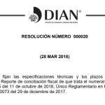 Resolución y Anexo 000020 de 2018