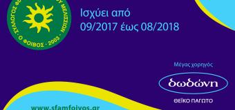 Οι φίλοι του ΣΦΑΜ ΦΟΙΒΟΣ-δωδώνη κερδίζουν με Volley Card