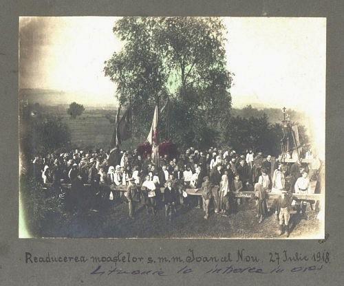 Aducerea de la Viena a moastelor Sfantului Ioan cel Nou in 1918 - click pentru a mari imaginea.