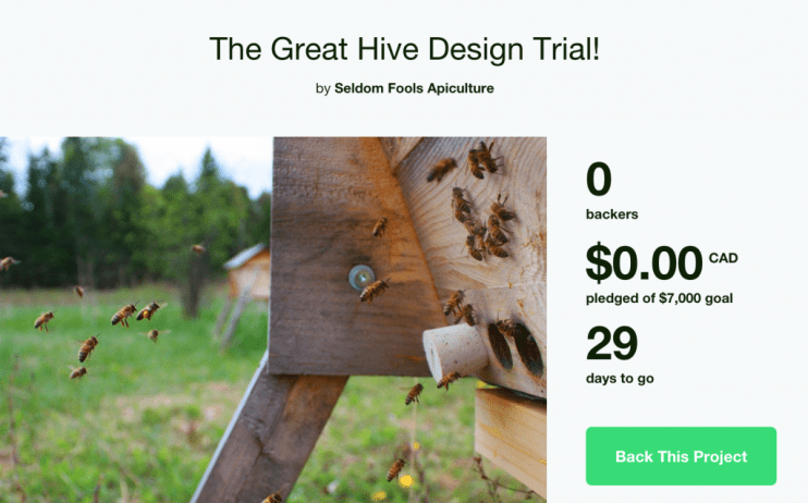 Kickstarter screen shot
