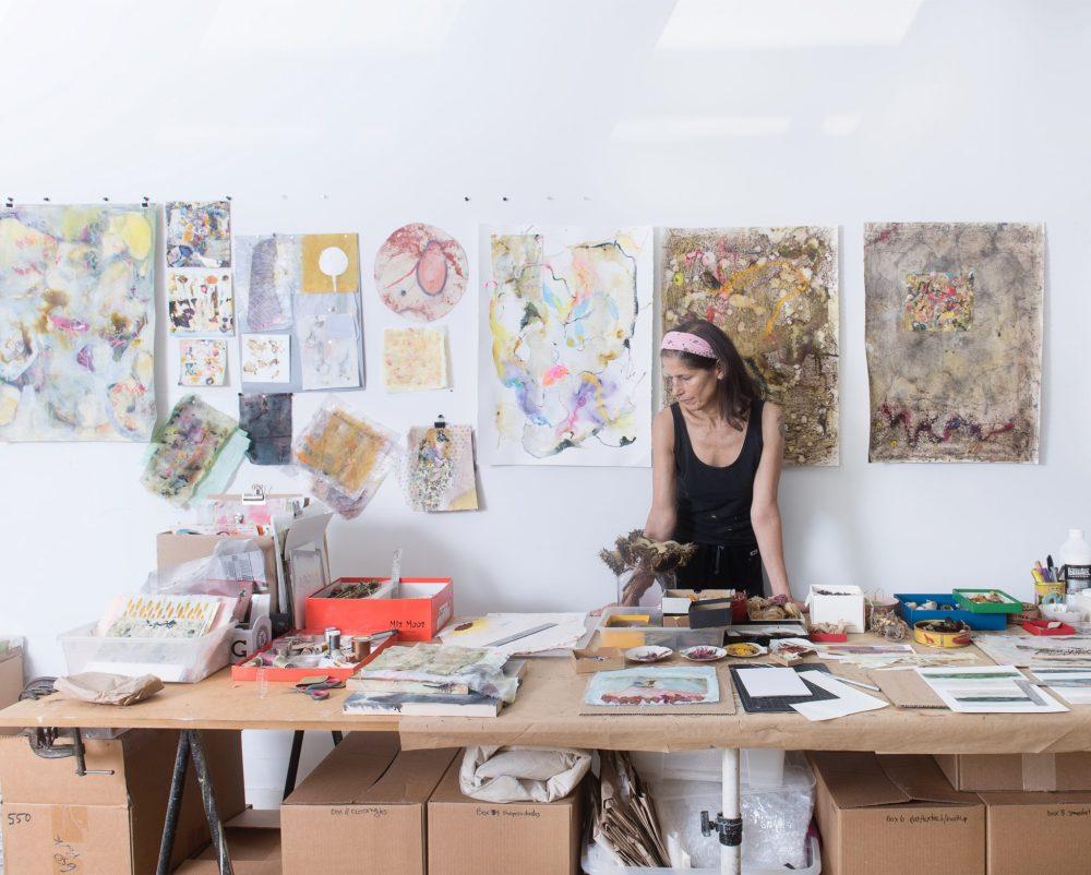 Nina Meledandri in her Brooklyn Studio