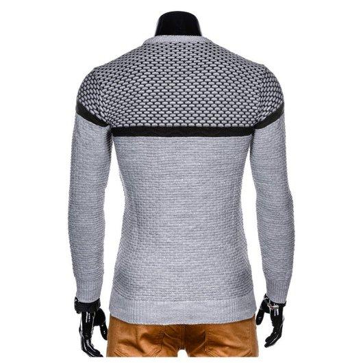siv moški pulover brez kapuce