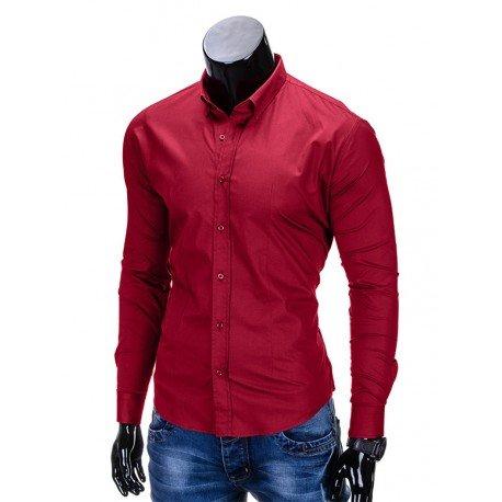 rdeča moška srajca