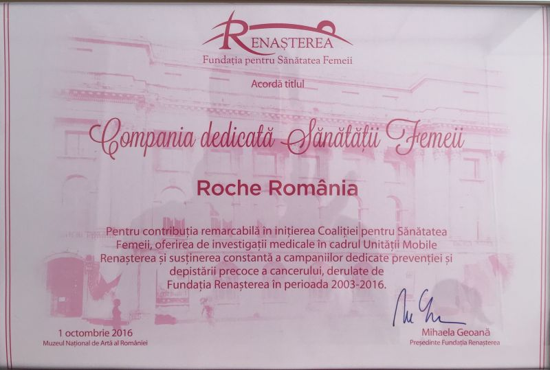 diploma-roche-compania-dedicata-sanatatii-femeii