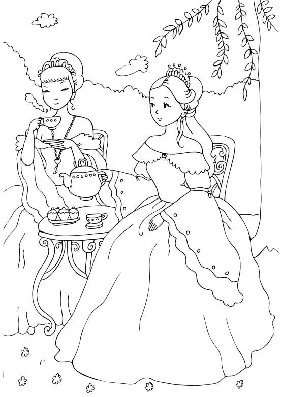 Doua printese la ceai