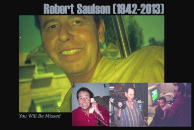 Robert Saulson You Will Be Missed