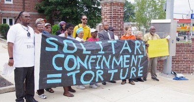 'Solitary Confinement = Torture' protest by Human Rights Coalition Penn