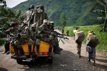 M23 withdraw from Sake, eastern Congo 113012 by AP