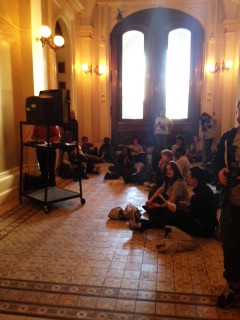 Assembly hearing on SHUs overflow 'room' in hallway 022513 by Dolores Canales
