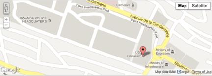 Kigali Rwanda US Embassy, 2657 Ave. de la Gendarmerie at Police Headquarters Road