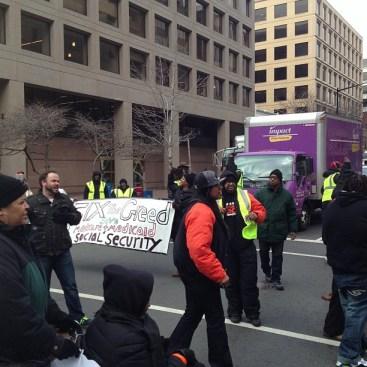 Sequester cuts protest