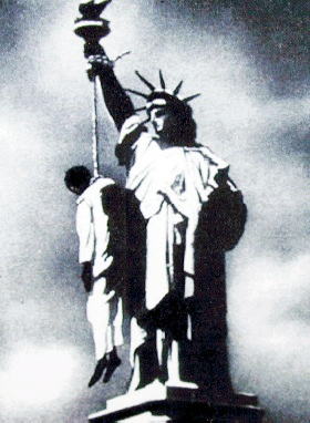 Statue of Liberty, lynching