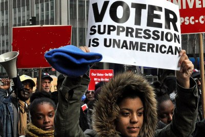 Voting Rights Act supporters demonstrate as Supreme Court hears challenge 022713