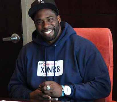 Brian Banks signs w Atlanta Falcons, wears XONR8 hoodie by Atlanta Falcons