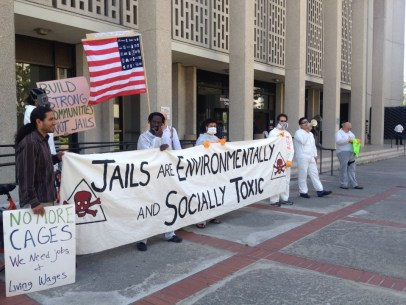 CURB Earth Day rally Hall of Justice Redwood City against toxic jail 042213