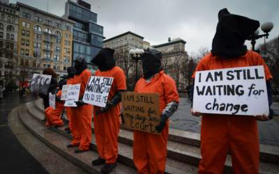 Witness Against Torture activists week-long hunger fast in solidarity w Guantanamo 032513 Union Square NYC by Witness Ag