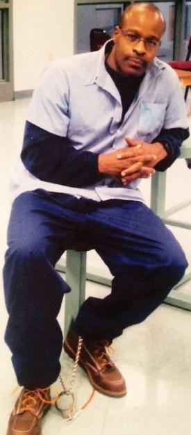 Bomani Shakur (Keith LaMar) Lucasville 5 in shackles