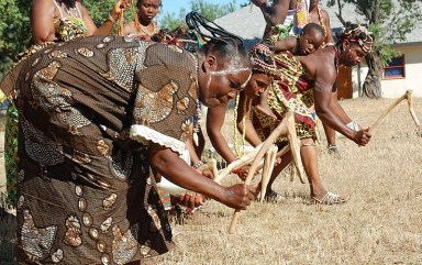 Chedepo Grebo Cultural Festival women's planting dance at Tarlesson Farm
