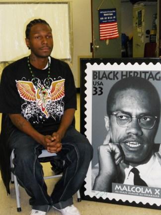 Malcolm speaks at Muslim school that Malcolm X helped establish Queens NYC by JR, web