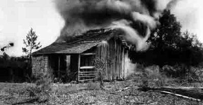 Rosewood, Florida cabin burns 010423