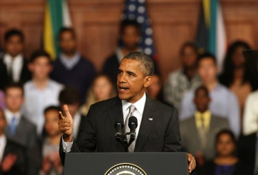Obama speaks at the University of Cape Town June 30, 2013. – Photo: AP