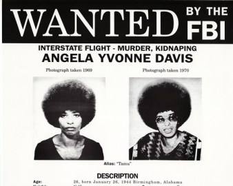 Angela Davis FBI wanted poster