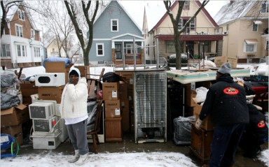 Black family foreclosed, evicted