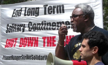 Hunger strike rally Oakland Jerry Elster MC 'End long term solitary...' 073113, web
