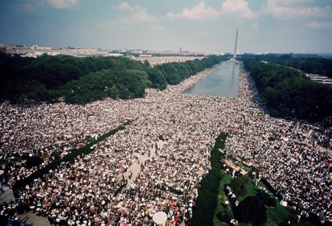 An aerial view of the March on Washington for Jobs and Freedom Aug. 28, 1963 – Photo: Getty