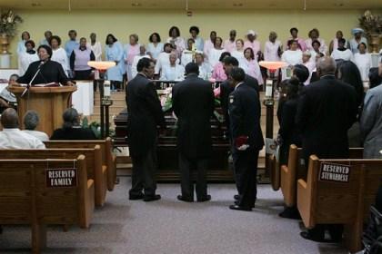 Willie B. Kennedy funeral Jones Memorial 071213 by Mike Koozmin, SF Examiner