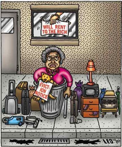 Eviction cartoon